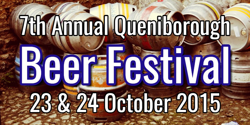 Header for the 7th Annual Queniborough Beer Festival on 23 and 24 October 2015