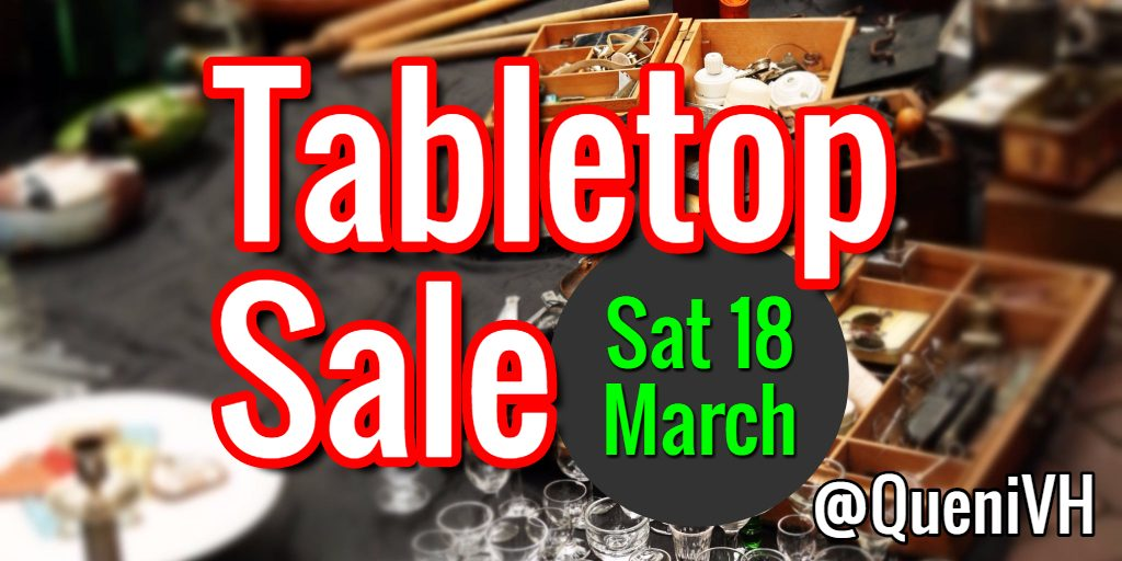 Queniborough Table Top Sale header for Saturday 18th March 2017