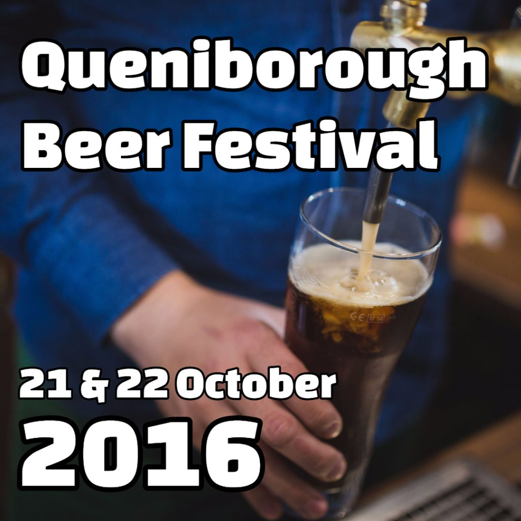 Header for the 8th Annual Queniborough Beer Festival on 21st and 22nd October 2016