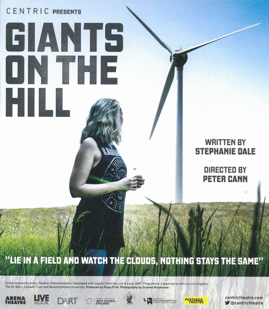 Poster flyer for Giants on the Hill at Queniborough Village Hall on 27 November 2016.